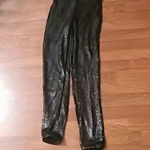 H+M New sequin leggings size 2 black stretch